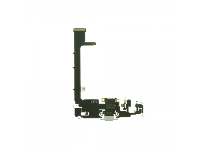Charging Dock Connector Flex + Board Silver Pro Apple iPhone 11 Pro Max (Genuine)