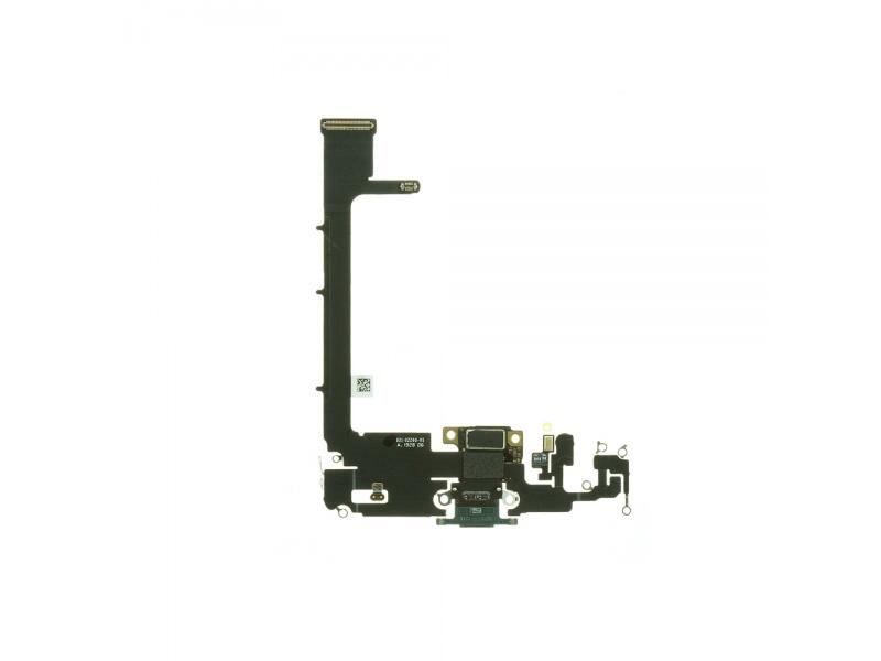 Charging Dock Connector Flex + Board Dark Green Pro Apple iPhone 11 Pro Max (Genuine)