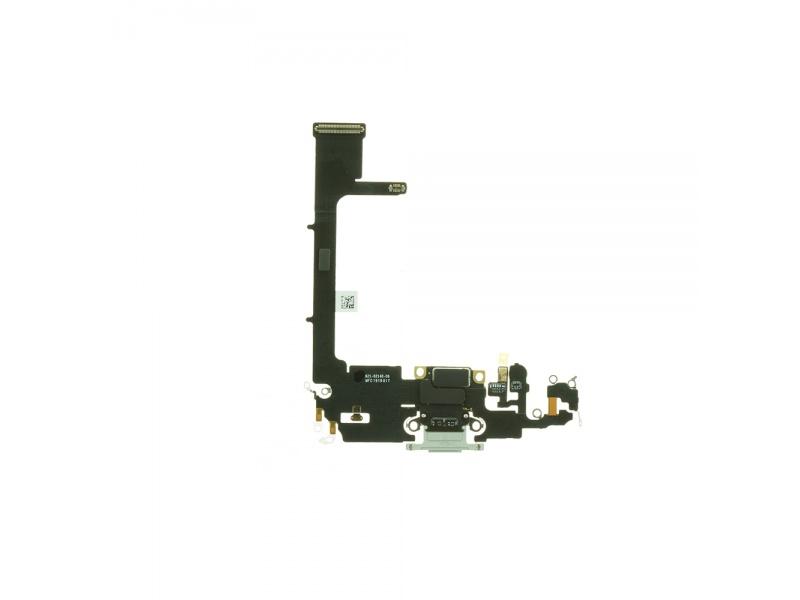 Charging Dock Connector Flex + Board Silver pro Apple iPhone 11 Pro (Genuine)