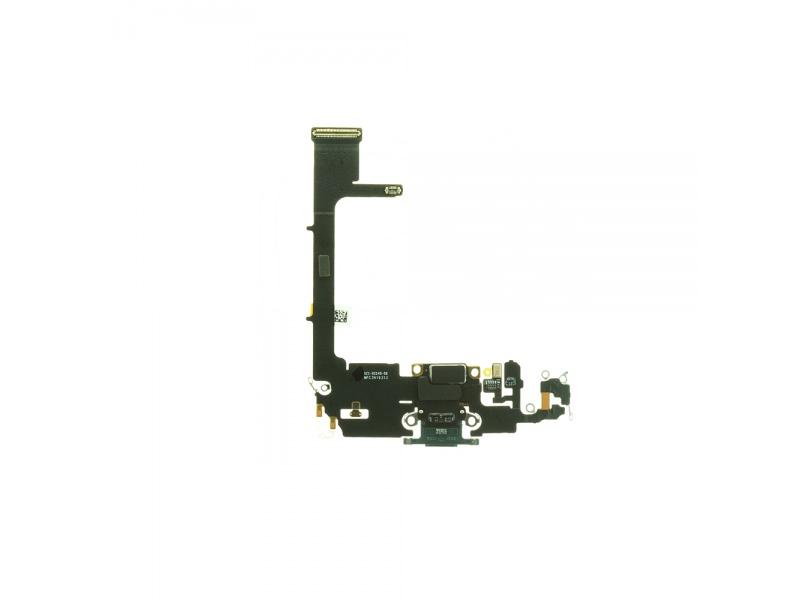 Charging Dock Connector Flex + Board Dark Green pro Apple iPhone 11 Pro (Genuine)