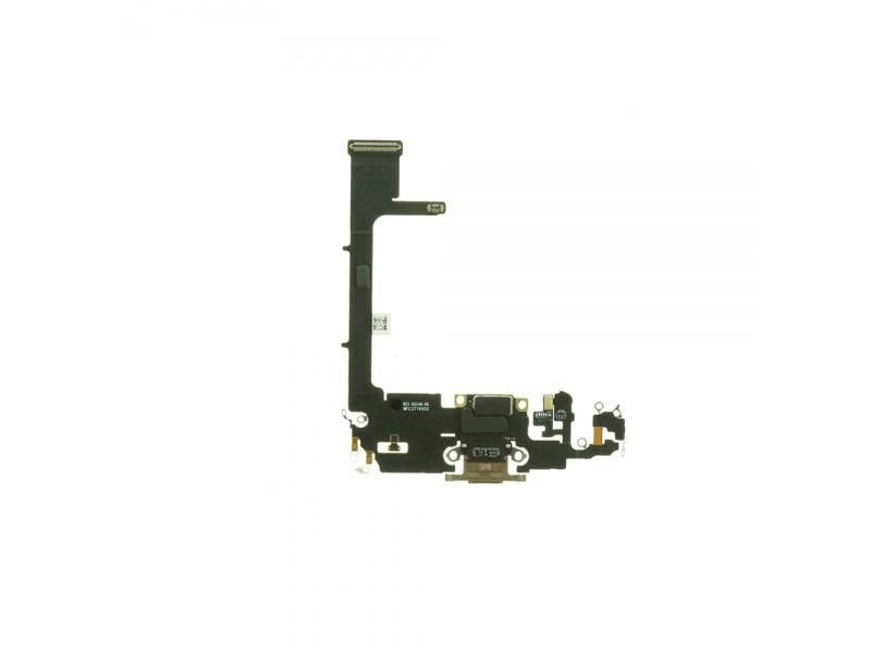 Charging Dock Connector Flex + Board Gold pro Apple iPhone 11 Pro (Genuine)
