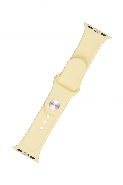 Set silikonových řemínků FIXED Silicone Strap pro Apple Watch 38/40/41 mm, světle žlutá