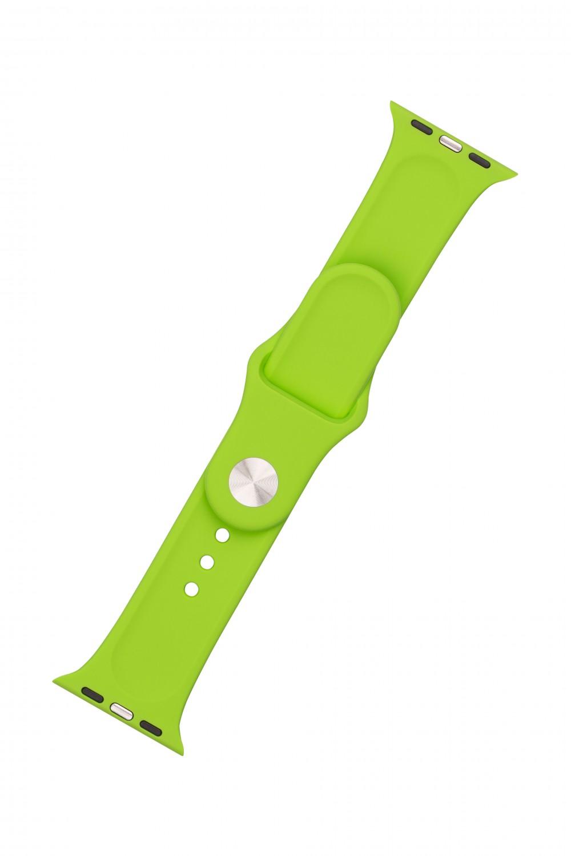 Set silikonových řemínků FIXED Silicone Strap pro Apple Watch 38/40/41 mm, zelená