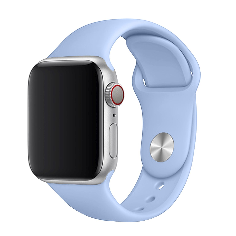 Set silikonových řemínků FIXED Silicone Strap pro Apple Watch 38/40/41 mm, světle modrá