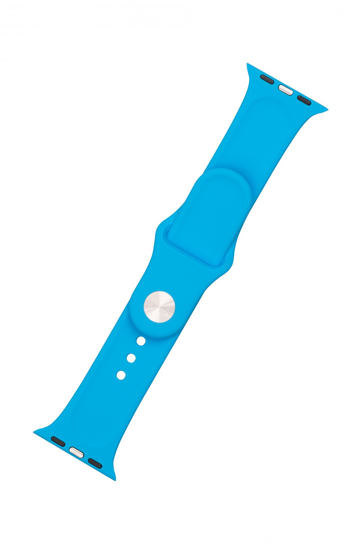 Set silikonových řemínků FIXED Silicone Strap pro Apple Watch 38/40/41 mm, sytě modrá