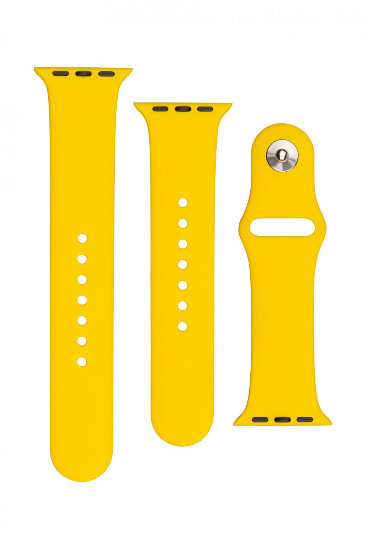 Set silikonových řemínků FIXED Silicone Strap pro Apple Watch 38/40/41 mm, žlutá