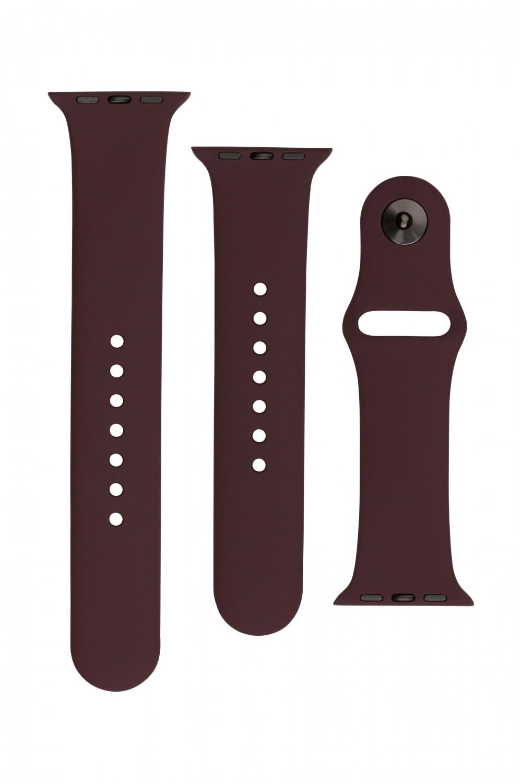 Set silikonových řemínků FIXED Silicone Strap pro Apple Watch 38/40/41 mm, kakaová