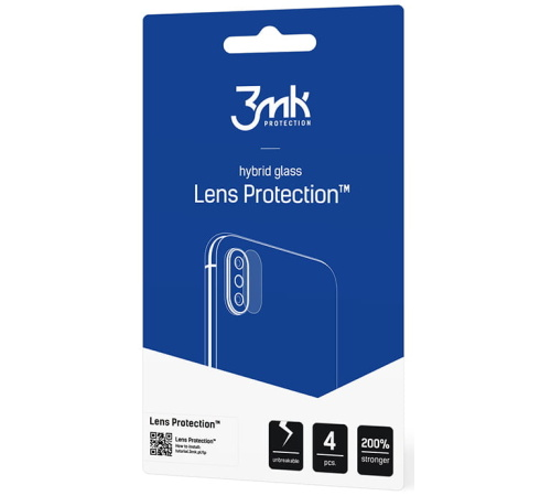 Hybridní sklo 3mk Lens ochrana kamery pro Vivo V21 5G (4ks)