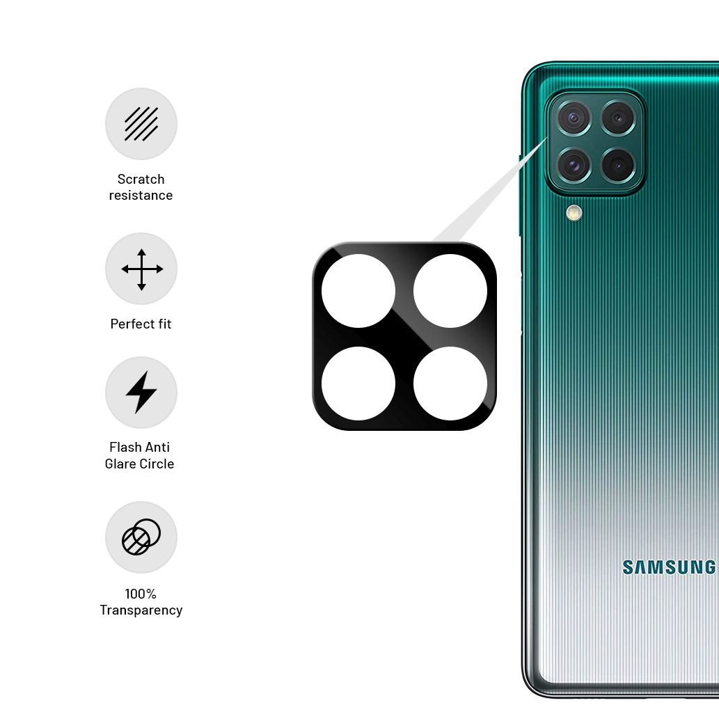 Ochranné sklo fotoaparátu FIXED pro Samsung Galaxy M62