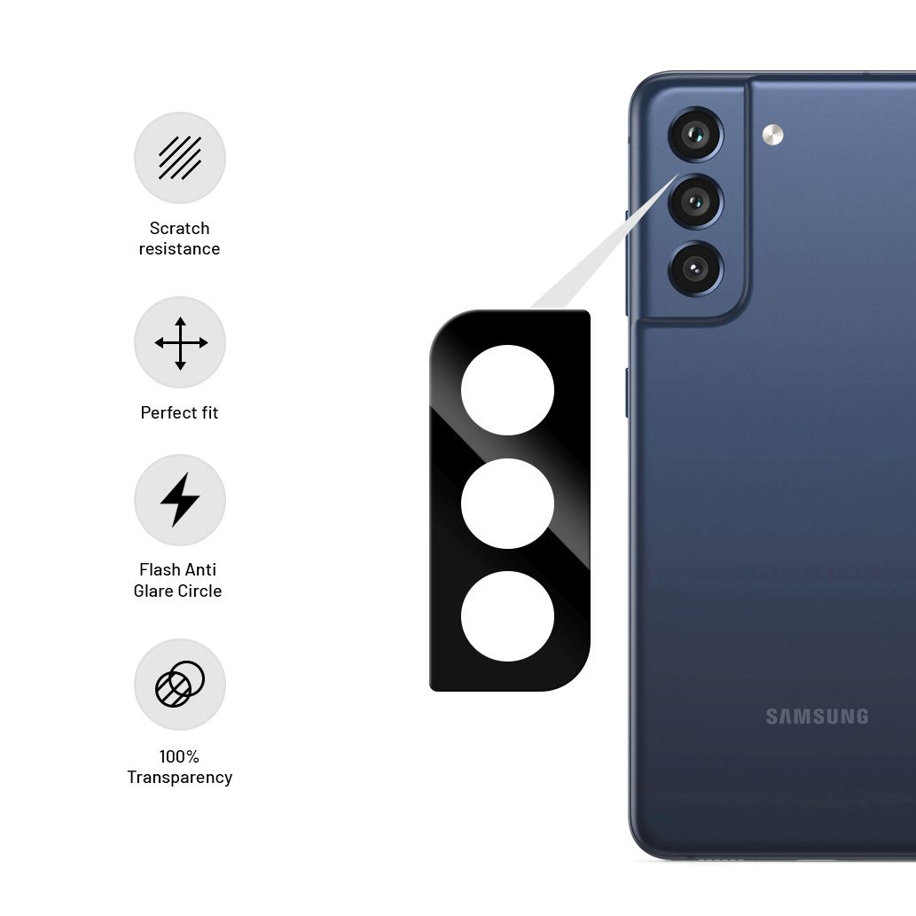 Ochranné sklo fotoaparátu FIXED pro Samsung Galaxy S21 FE