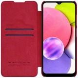 Nillkin Qin flipové pouzdro pro Samsung Galaxy A03s, červená