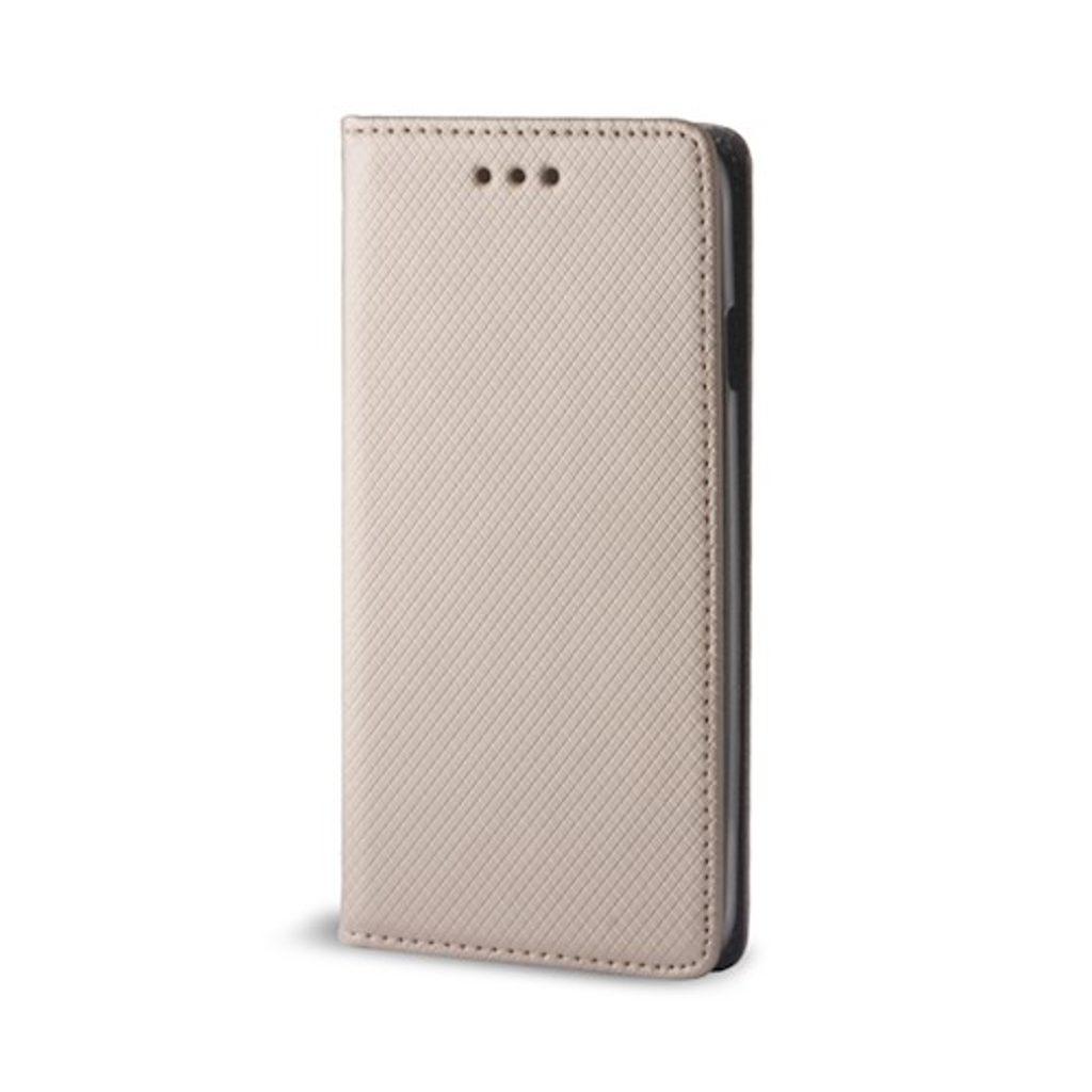 Cu-Be Smart Magnet flipové pouzdro pro Xiaomi Redmi Note 10 Pro/Note 10 Pro Max, růžová/zlatá