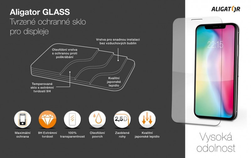 Ochranné tvrzené sklo ALIGATOR ULTRA pro Apple iPhone 13/13 Pro