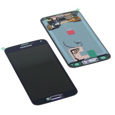 LCD display + dotyková deska pro Samsung G900 Galaxy S5 Black/Blue
