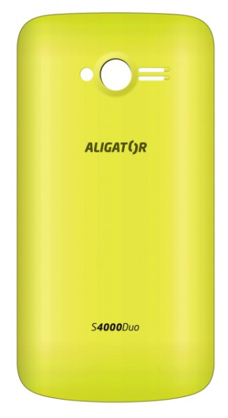 Zadní kryt baterie na Aligator S4000, yellow