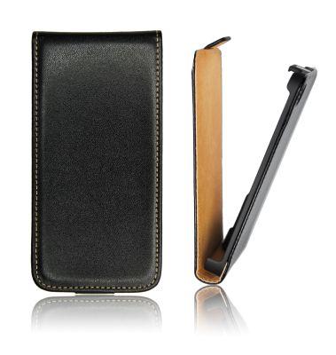 Pouzdro flip na HTC Desire 200 ForCell Slim černé