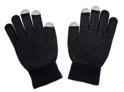 Rukavice GLITTER na dotykový displej black