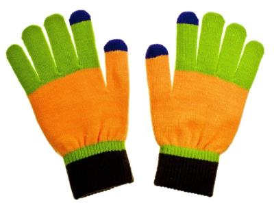 Rukavice JOLLY na dotykový displej orange/green