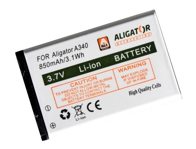 ALIGATOR baterie pro A340/A310/A311/A320/V600 850mAh Li-Ion