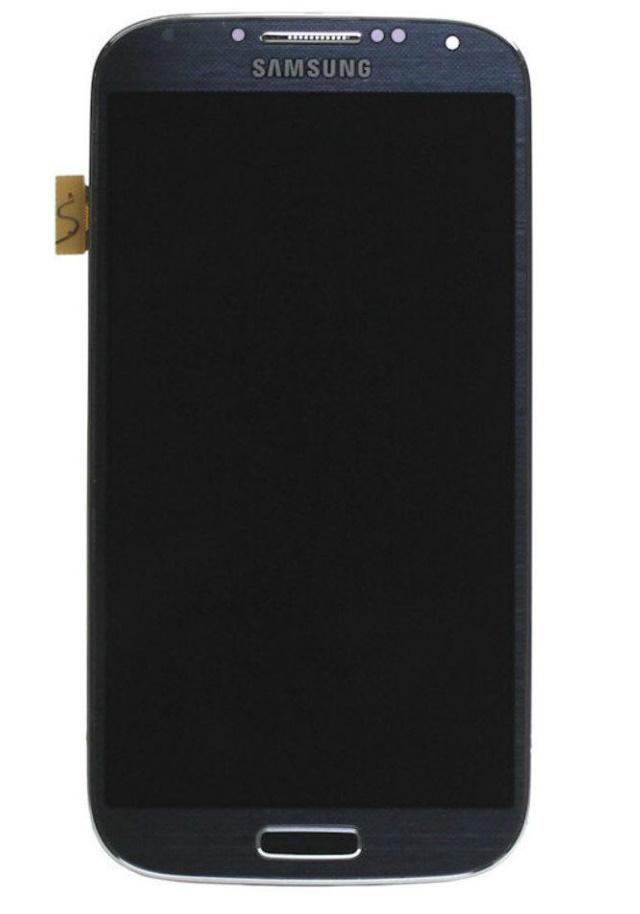 LCD displej + dotyková plocha + přední kryt pro Samsung Galaxy S4, Blue