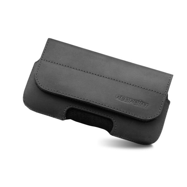Horizontální kožené pouzdro na pásek RedPoint Posh vel. XL černé