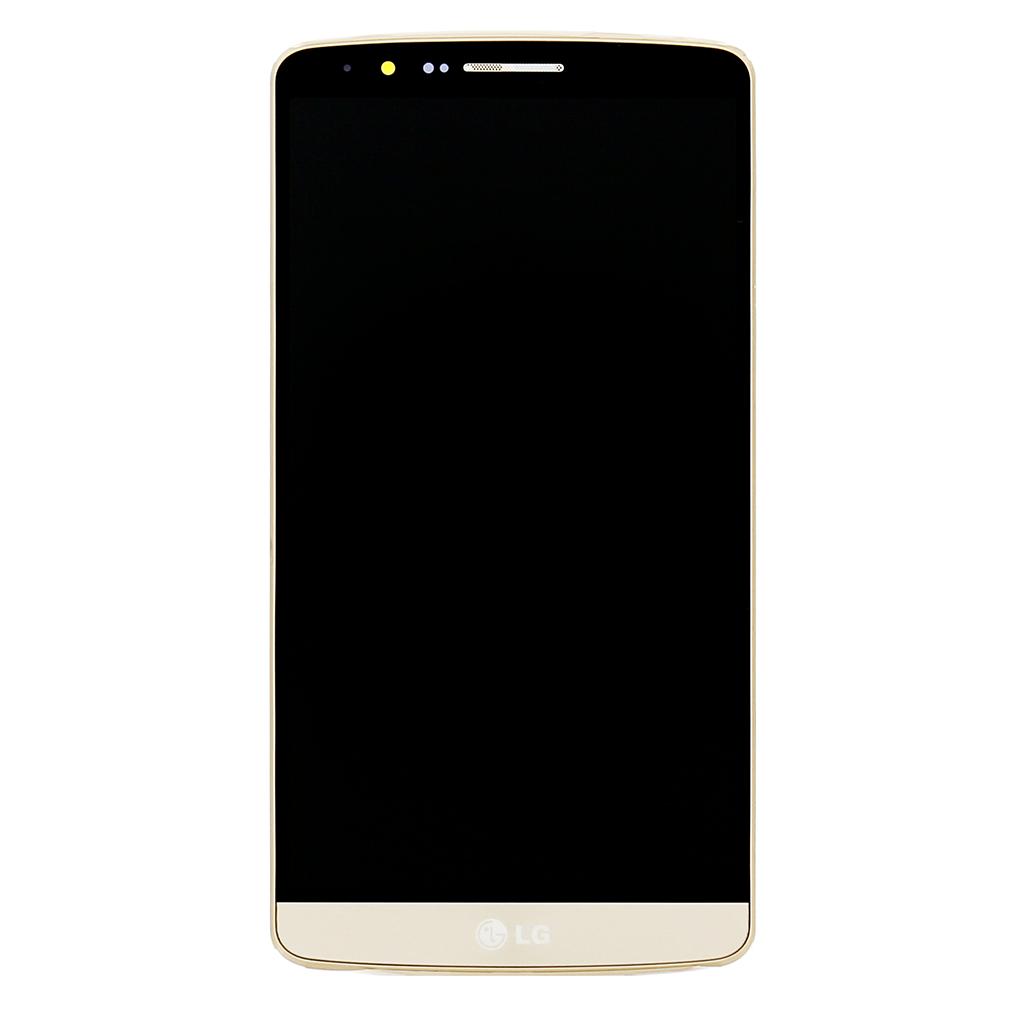 LCD Display + Dotyková Deska + Přední Kryt pro LG G3, gold