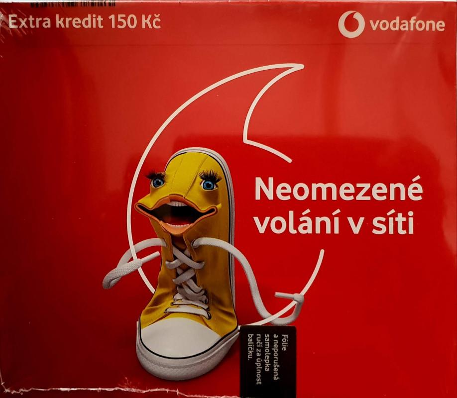 Vodafone karta - neomezené volání v sítí