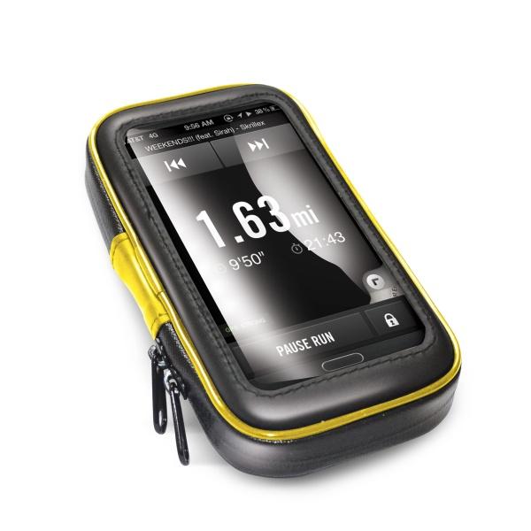 """Voděodolný držák CELLY FLEXBIKE pro 6"""" telefony k upevnění na řídítka"""