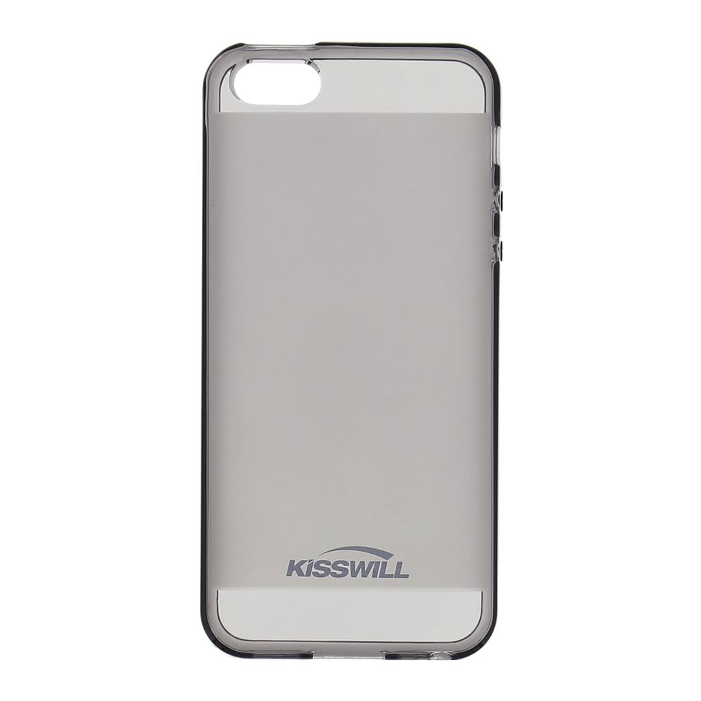 Kisswill silikonové pouzdro Apple iPhone 5/5S černé