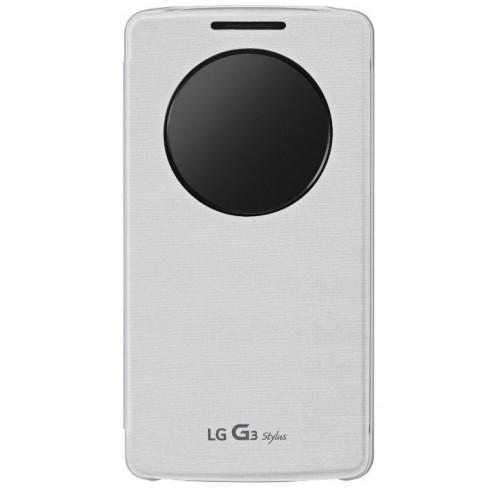 Originální pouzdro QuickCircle CCF-440G pro LG G3 Stylus bílé