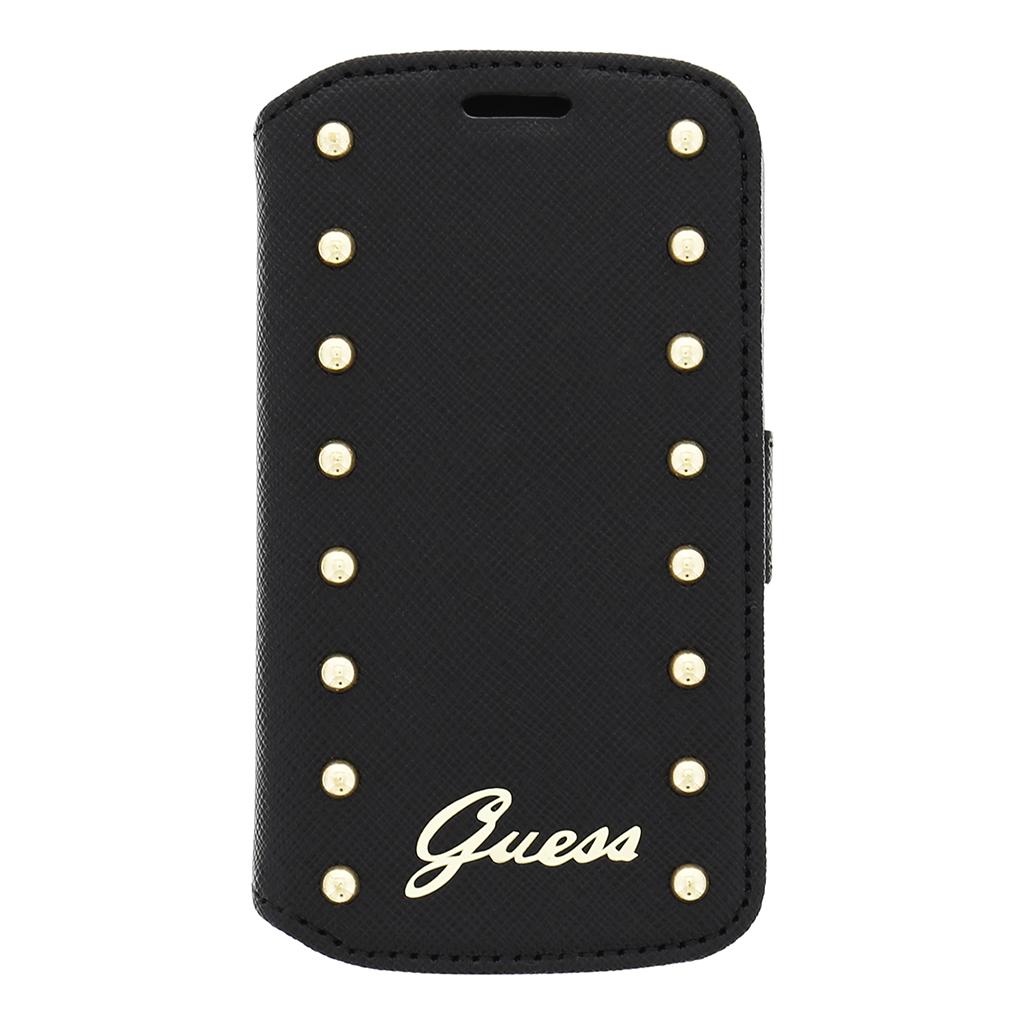 Kožené pouzdro na mobil Samsung Galaxy Trend Lite Guess GUFLBKSTLSAB černé