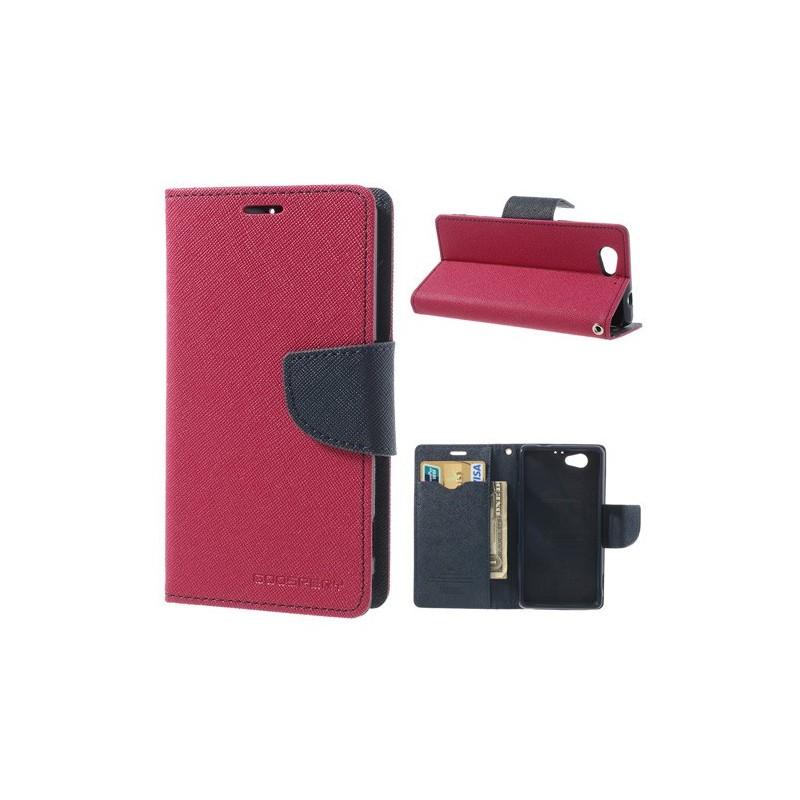 Pouzdro na mobil Sony Xperia Z3 Mercury Fancy tmavě růžové