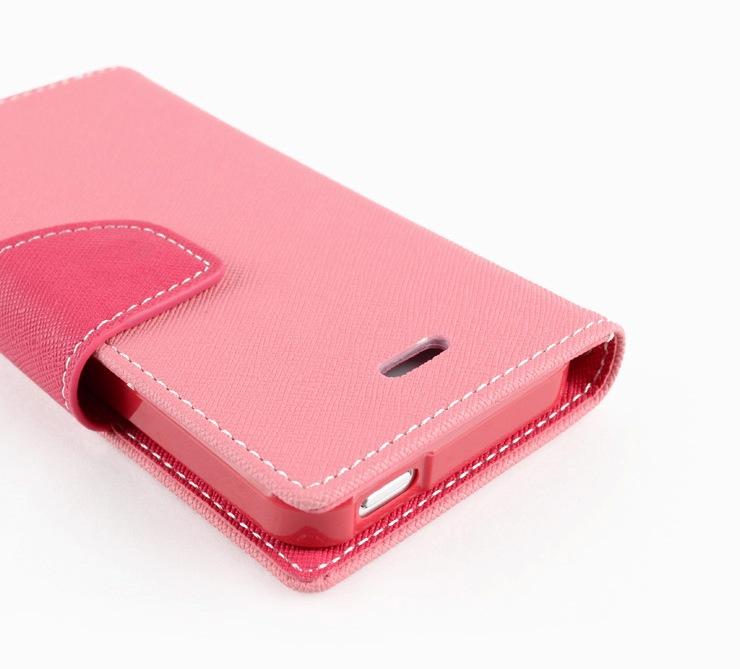 Pouzdro na Samsung Galaxy S5 (G900) Mercury Fancy růžové