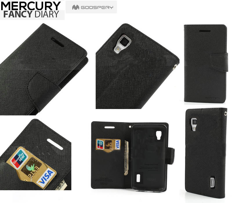 Pouzdro na mobil HTC ONE M9 Mercury Fancy černé