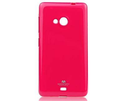 Pouzdro na Microsoft Lumia 535 Mercury Jelly tmavě růžové