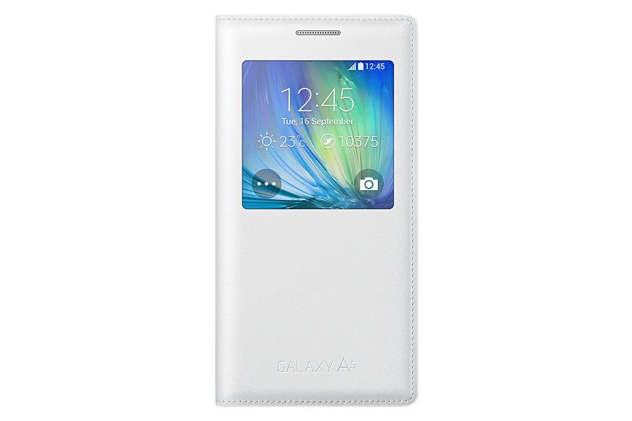 Samsung flipové pouzdro s oknem EF-CA500BCE pro Galaxy A5 White