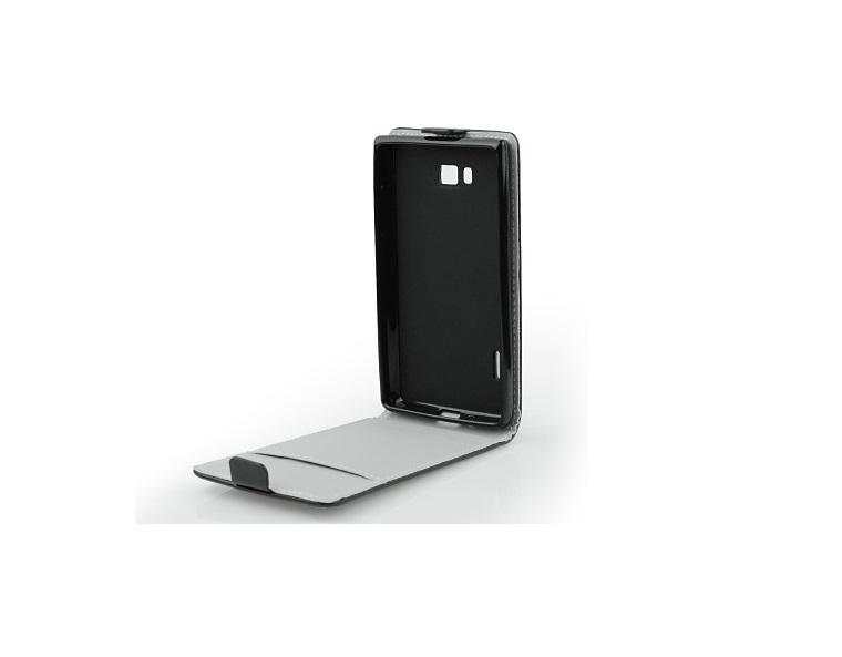 Pouzdro flip na Lenovo A5000 ForCell Slim Flexi Fresh černé