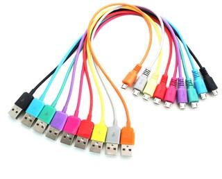Datový kabel 4World microUSB 1m bílý
