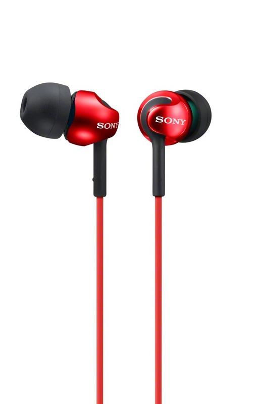 Sluchátka SONY MDR-EX110LP červené