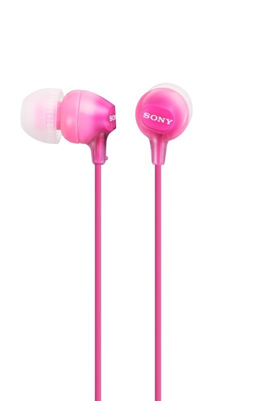 Sluchátka SONY MDR-EX15LP růžové