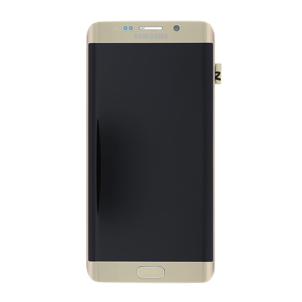 LCD display + Dotyková deska + Přední kryt Samsung G928 Galaxy S6 Edge Plus zlatý