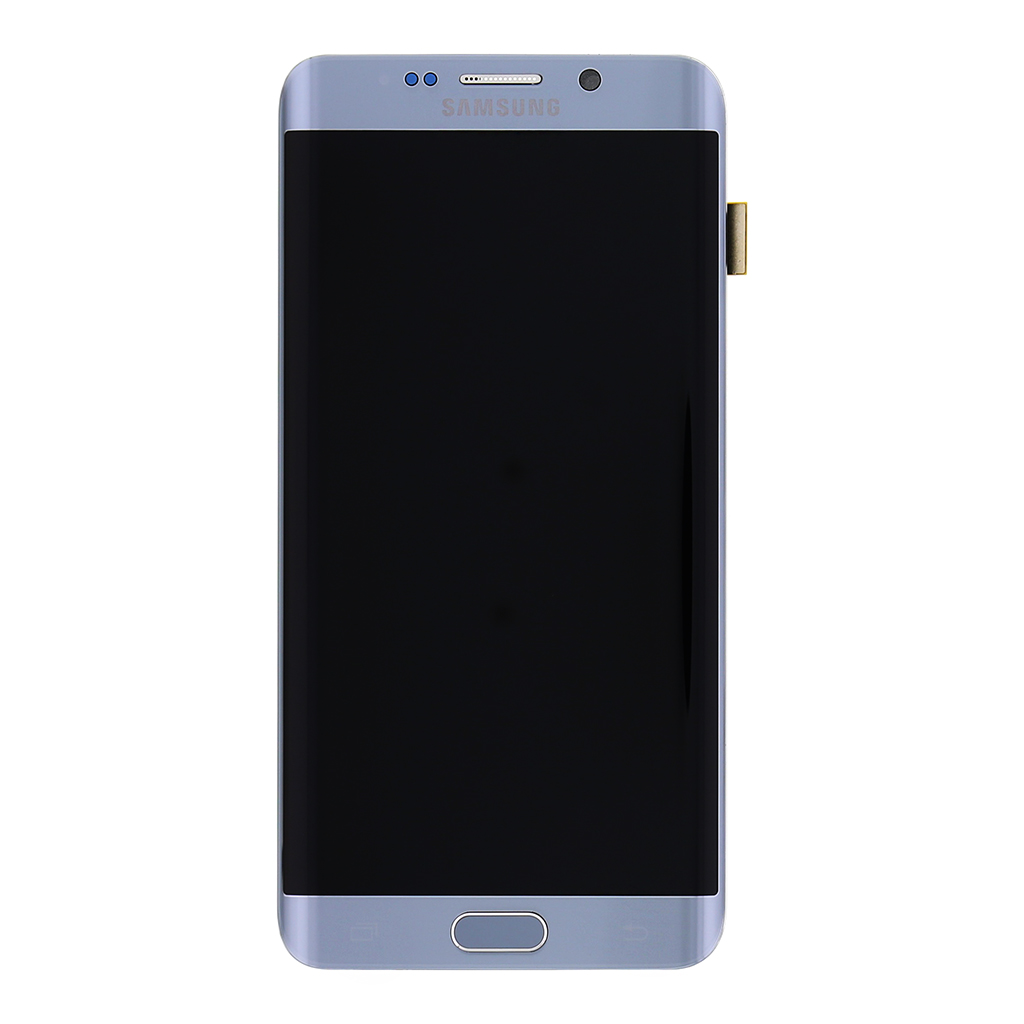 LCD display + Dotyk + Přední kryt Silver pro Samsung Galaxy S6 G928 Edge Plus - originál