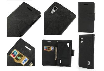MERCURY Fancy Diary flipové pouzdro pro Huawei P8 Lite černé