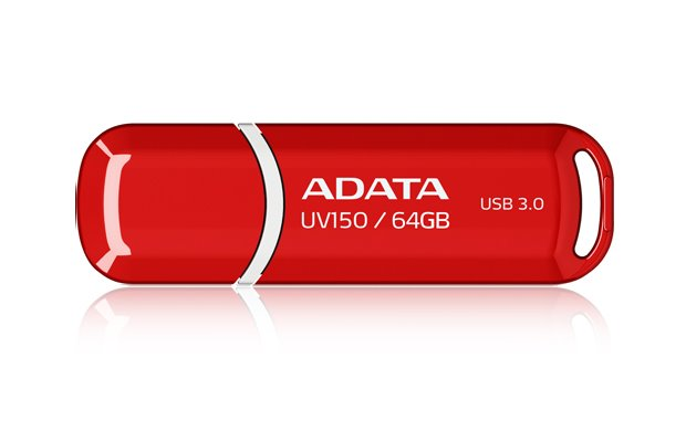 Flash disk ADATA UV150 64GB, USB 3.0, červený