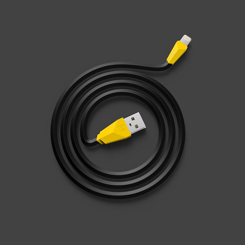 Remax Alien Datový Kabel Black pro iPhone 5/5S/6/6 Plus