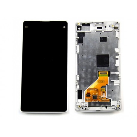 LCD Display + dotyk. deska + př. kryt pro Sony Xperia Z1 Compact D5503, bílá