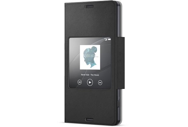 Pouzdro flip SCR26 Smart Cover Sony Xperia Z3 Compact černé (bulk)