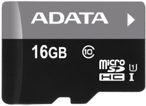 Paměťová karta ADATA 16GB MicroSDHC class 10, 50MB/s s adaptérem