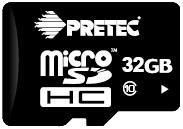 Paměťová karta Pretec 32 GB Micro SDHC CLASS10 10MB/s s adaptérem