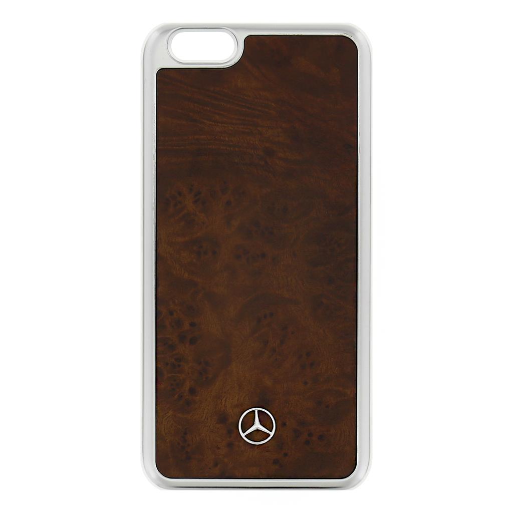 MEHCP6MYBR Zadní kryt Mercedes Myrtille iPhone 6/6s hnědý